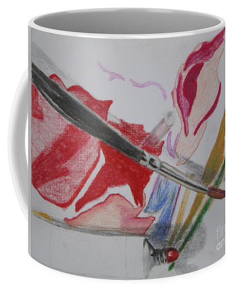 Art Coffee Mug featuring the painting Unfinished by Ann Sokolovich