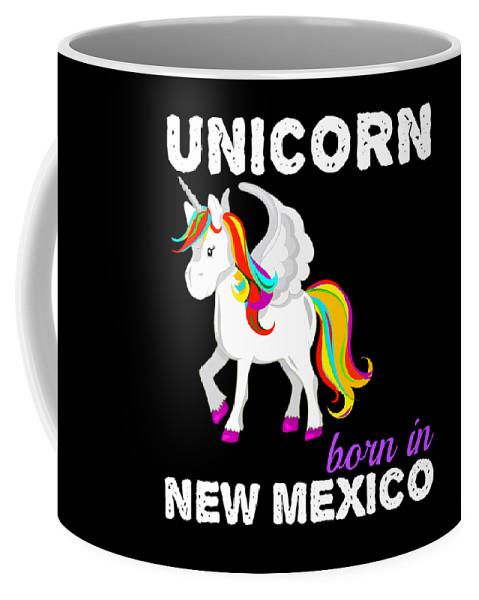 Baby-girl Coffee Mug featuring the digital art Unicorn Bornknewjmexico by Kaylin Watchorn