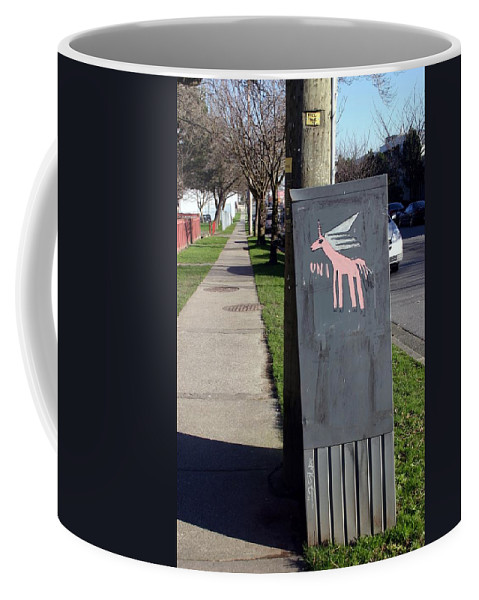 Mail Box Coffee Mug featuring the photograph Unicorn Mail Delivery by Minaz Jantz