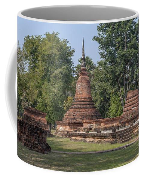 Temple Coffee Mug featuring the photograph Unidentified Wat Wihan And Chedi Dthst0074 by Gerry Gantt