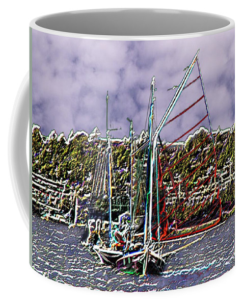 Seattle Coffee Mug featuring the photograph Union Sail by Tim Allen