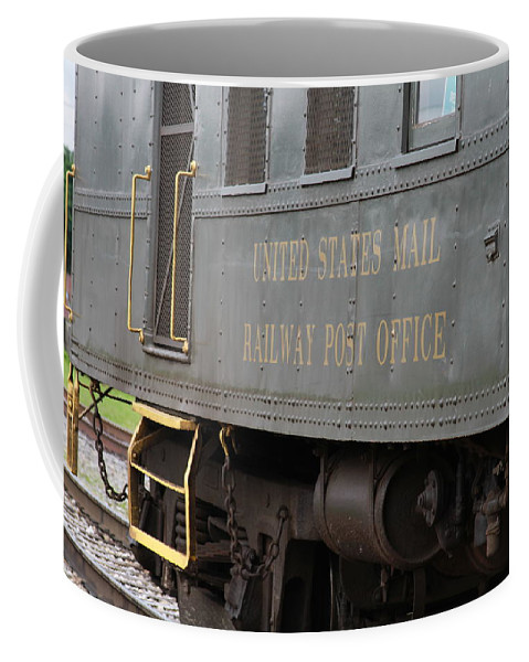 Wv Coffee Mug featuring the photograph United States Mail Railway Post Office Box Car by Cathy Lindsey