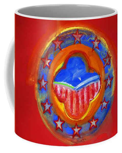 Symbol Coffee Mug featuring the painting United States Of Europe by Charles Stuart