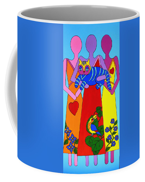 Figures Coffee Mug featuring the painting Unity 8 by Stephanie Moore