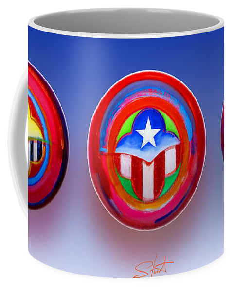 Trinity Coffee Mug featuring the painting Unity In Diversity by Charles Stuart