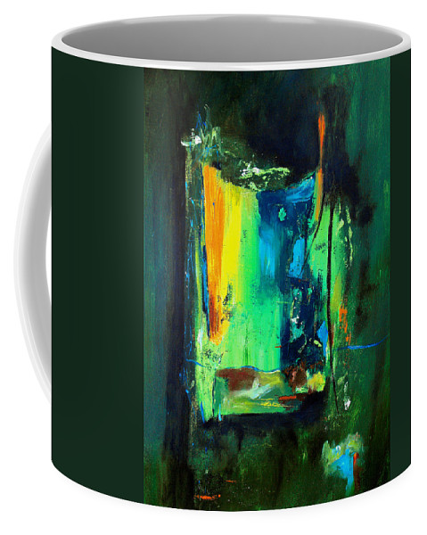 Abstract Coffee Mug featuring the painting Unity In The Body by Ruth Palmer