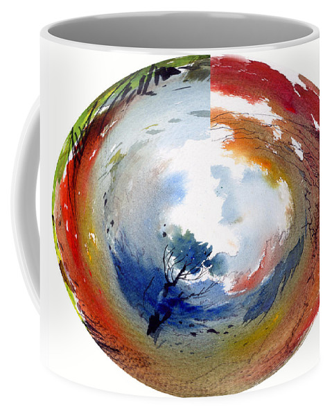 Landscape Water Color Watercolor Digital Mixed Media Coffee Mug featuring the painting Universe by Anil Nene