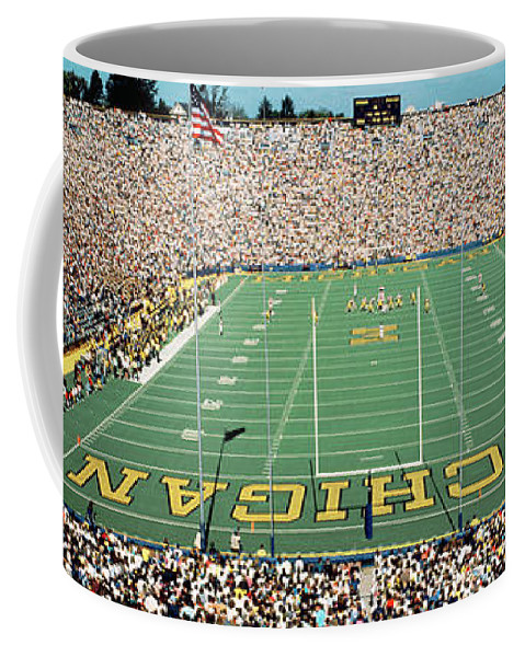 Photography Coffee Mug featuring the photograph University Of Michigan Stadium, Ann by Panoramic Images