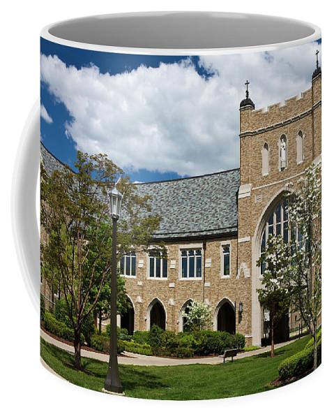 University Of Notre Dame Law School Coffee Mug featuring the photograph University Of Notre Dame Law School by Sally Weigand