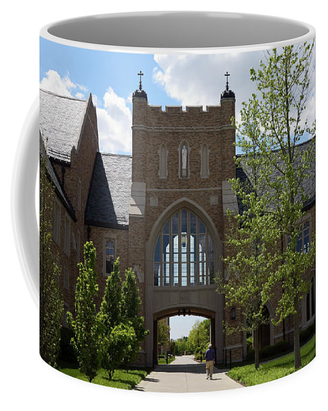 University Of Notre Dame Campus Building Coffee Mug featuring the photograph University Of Notre Dame by Sally Weigand