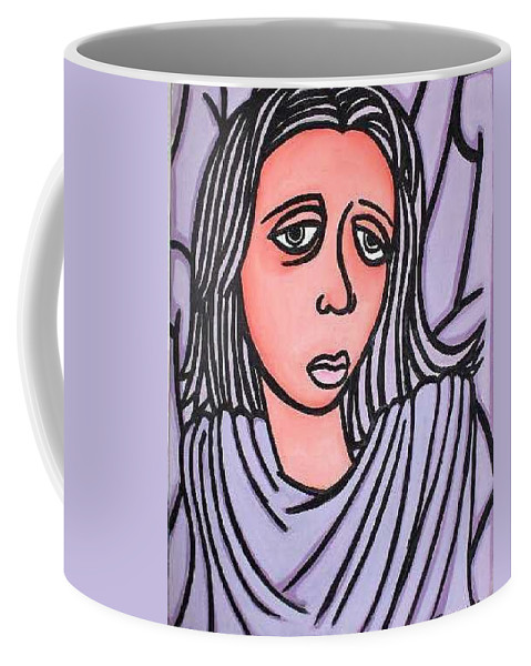 Portrait Coffee Mug featuring the painting Unknown by Thomas Valentine
