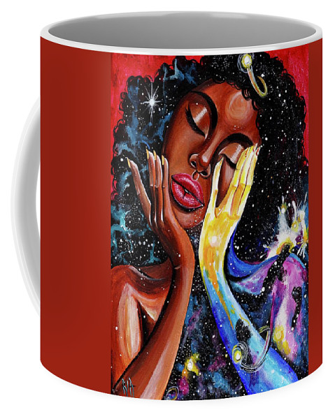 Universe Coffee Mug featuring the painting Unlocked U.Never.See.All by Artist RiA