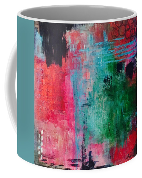 Art Coffee Mug featuring the painting Unresolved Feelings by Monica Martin