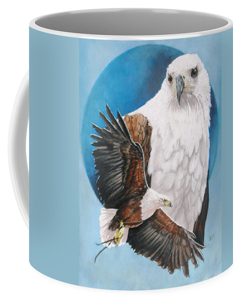 Eagle Coffee Mug featuring the mixed media Unrivalled by Barbara Keith