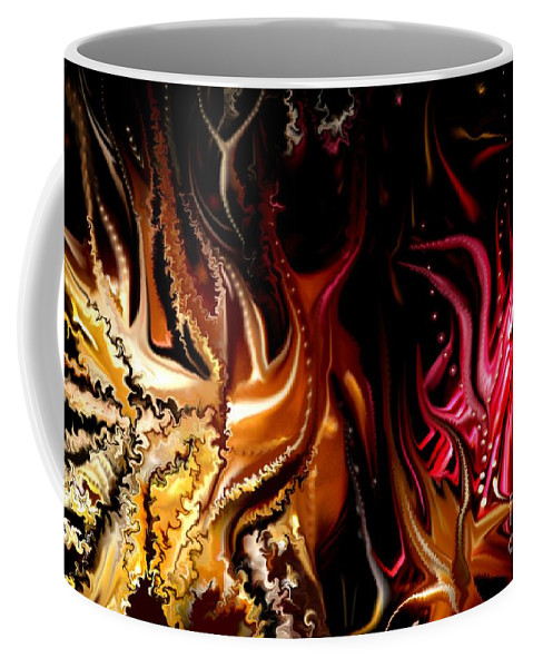 Abstract Coffee Mug featuring the digital art Until The End by David Lane