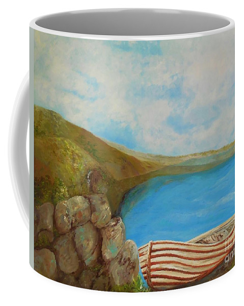 Boat Coffee Mug featuring the painting Until The Next Time by Eloise Schneider Mote