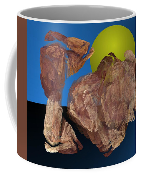 Digital Painting Coffee Mug featuring the digital art Untitled 01-16-10 by David Lane
