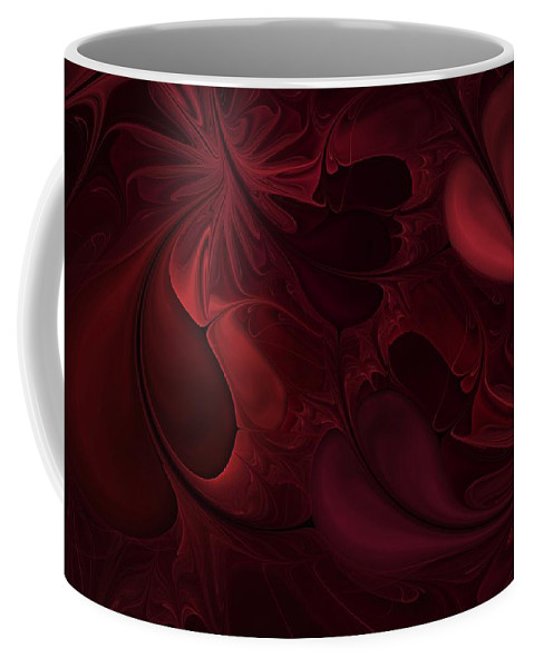 Digital Painting Coffee Mug featuring the digital art Untitled 1-26-10 Reds by David Lane