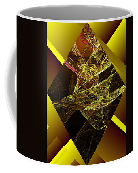 Abstract Digital Painting Coffee Mug featuring the digital art Untitled 11-06-09 by David Lane