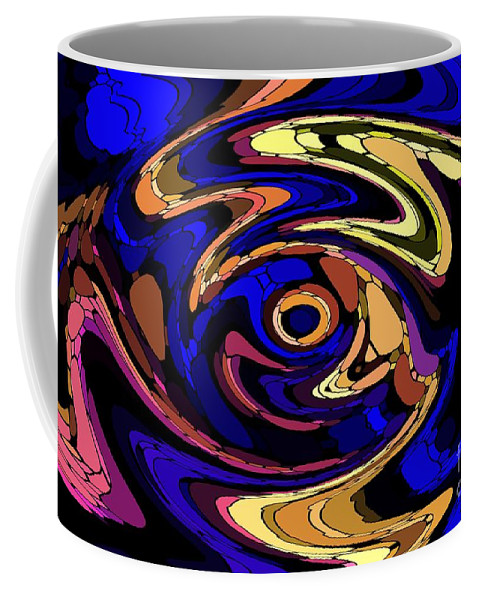 Abstract Coffee Mug featuring the digital art Untitled 7-04-09 by David Lane
