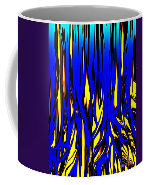Abstract Coffee Mug featuring the digital art Untitled 7-21-09 by David Lane