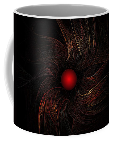 Abstract Digital Painting Coffee Mug featuring the digital art Untitled 9-20-09 by David Lane