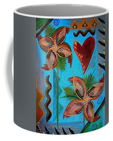 Flowers Coffee Mug featuring the painting Untitled by Caryn Morris