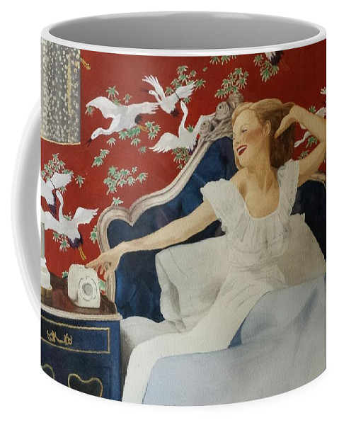 Portrait Coffee Mug featuring the painting Rise And Shine by David Corrigan
