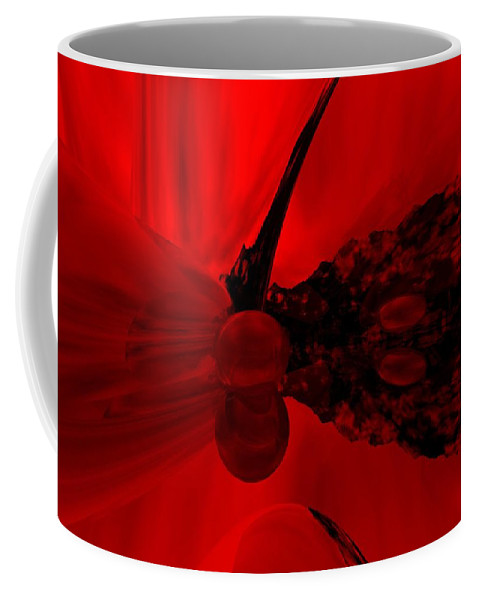 Abstract Coffee Mug featuring the digital art Untitled by David Lane