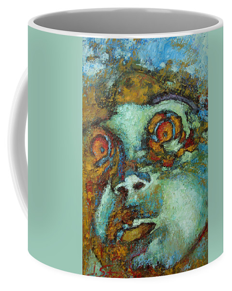 Oil Coffee Mug featuring the painting Untitled by Ioulia Sotiriou