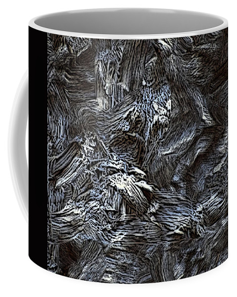 Abstract Digital Painting Coffee Mug featuring the digital art Untitled11-14-09 by David Lane