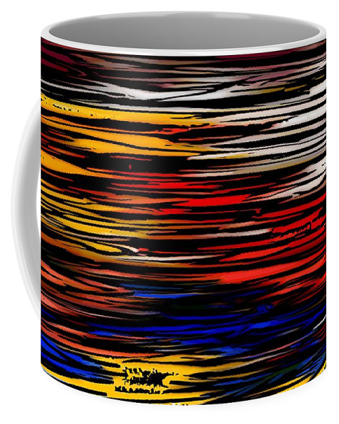 Abstract Digital Painting Coffee Mug featuring the digital art Untitled2 9-12-09 by David Lane