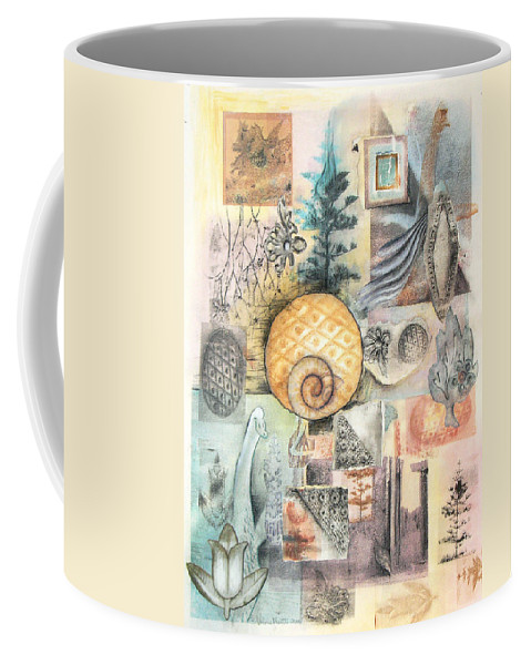 Abstract Coffee Mug featuring the mixed media Up And Away by Valerie Meotti