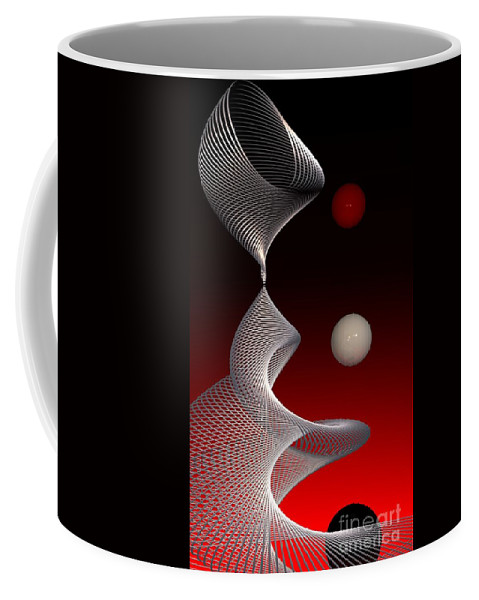 3d Coffee Mug featuring the digital art Up And Down by Issabild -