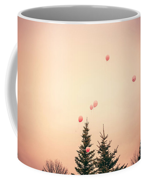 Balloons Coffee Mug featuring the photograph Up Up And Away by Debi Bishop