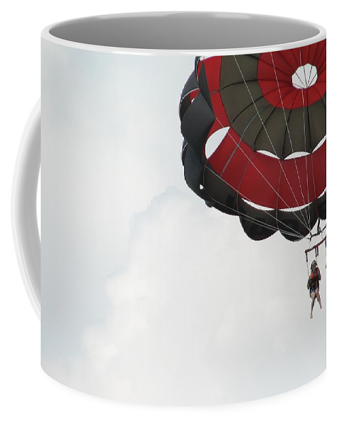 Parasail Coffee Mug featuring the photograph Up Up And Away by Kelly Mezzapelle