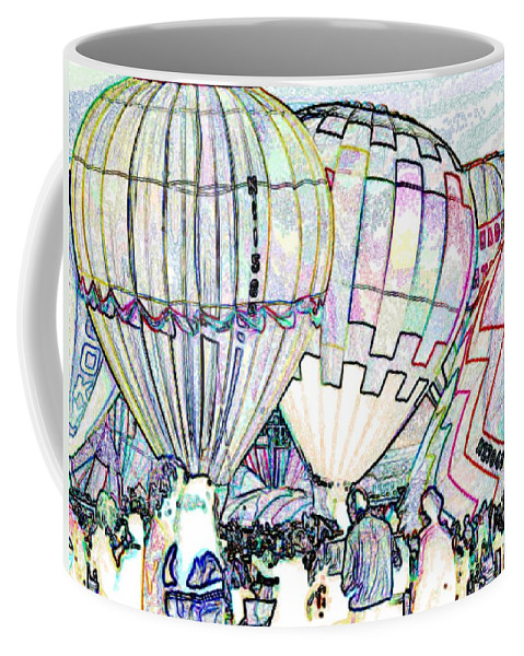 Balloons Coffee Mug featuring the photograph Up Up And Away by Tim Allen