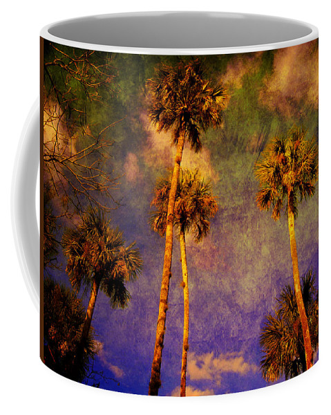 Palm Tree Coffee Mug featuring the photograph Up Up To The Sky by Susanne Van Hulst