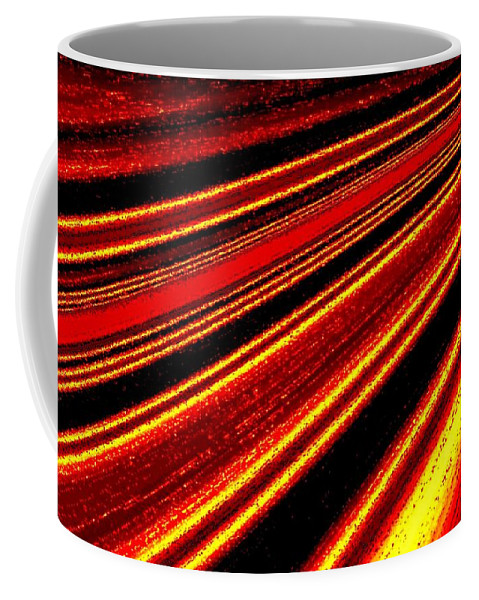 Abstract Coffee Mug featuring the digital art Upbeat by Will Borden