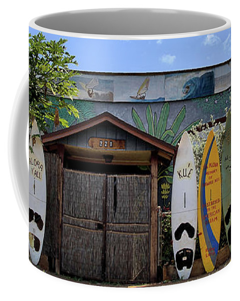Maui Coffee Mug featuring the photograph Upcountry Boards by DJ Florek