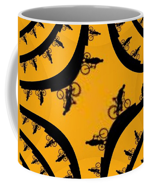 Bicycle Coffee Mug featuring the photograph Uphill Downhill by Tim Allen