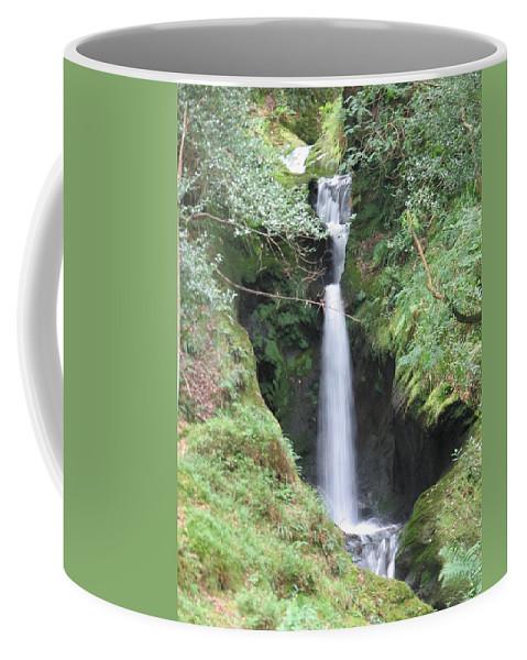 Glendalough Coffee Mug featuring the photograph Upper Falls by Kelly Mezzapelle