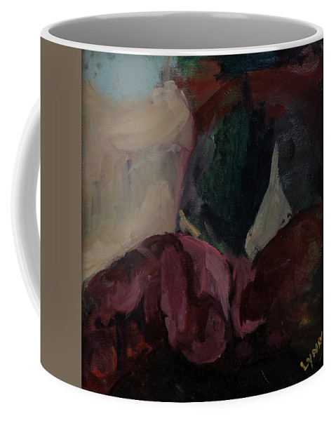 Portrait Coffee Mug featuring the painting Upper Lip by Lynne Guess