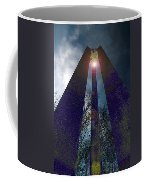 Tower Coffee Mug featuring the photograph Uprightly by Mykel Davis