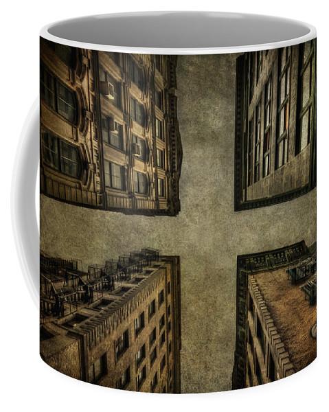 New York Coffee Mug featuring the photograph Uprising by Evelina Kremsdorf