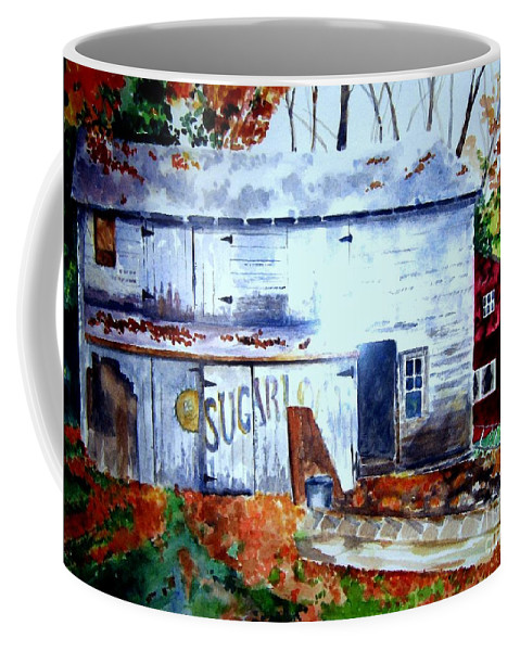 Autumn Coffee Mug featuring the painting Upstate Barn by Sandy Ryan