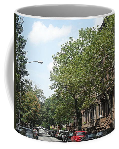 New York Coffee Mug featuring the photograph Uptown Ny Street by Vannetta Ferguson