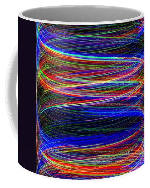 Abstract Coffee Mug featuring the digital art Upwardly Mobile by Will Borden