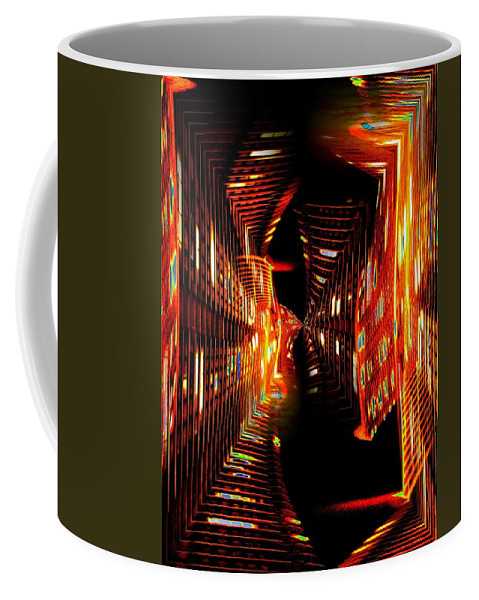 Urban Coffee Mug featuring the photograph Urban Nightlights by Tim Allen