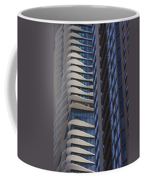 Chicago City Wind Windy Sky Skyscraper Window Concrete Glass Tall High Urban Metro Coffee Mug featuring the photograph Urban Patters by Andrei Shliakhau